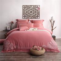 Kaufen Sie Im Großhandel Rote Bestickte Bettwäsche 2019 Zum Verkauf
