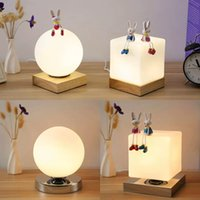 Nordic bedroom bedside lamp feeding plug- in night light crea...