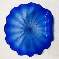 Голубой цвет изготовленный на заказ европейский стиль Подгонянные выдувные настенные светильники из муранского стекла искусство конструировало освещение настенных плит
