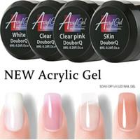 Gel UV Nails Polygels Nails Builder Poligel Extension Kit acrilico di arte del chiodo di cristallo UV Resina Builder