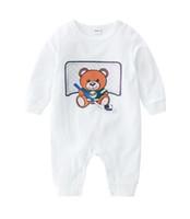 Новорожденные Детская одежда для малышей мальчиков Rompers младенца Мальчики Девочки Костюм мультфильм медведь Комбинезон Симпатичные Cotton младенческой мальчиков Outfit Детская одежда