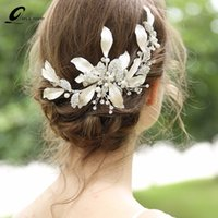 Jewelry Silver Leaf Wedding Accessories Vintage Hairbands Br...