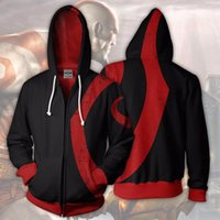 wholesale 2018 Men Hooded Fallout God of War 3D Printed Hood...