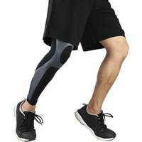 Сжатие Нога рукава Поддержка спорта Зимние Гетры Велоспорт Колено Мышца давления Pad Баскетбол Футбол Protector