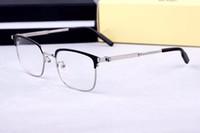 yeni moda vahşi gözlük çerçeveleri 0083OK plakalı kutusu yüksek miyopi çerçeve burun yastıkları düz adamlar 52-19-140