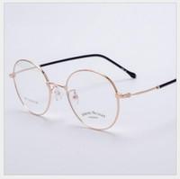 خمر البيضاوي الذهب النظارات الإطار 1652 # خمر البيضاوي شفافة الذهب النظارات الإطار الرجعية الفولاذ الساقين نظارات نظارات رجل النساء المعادن عادي