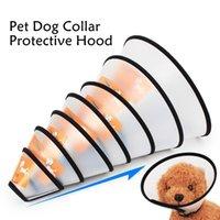 Hot Sale Atacado Pet Produtos Escudo Dog Anti-mordendo cão Anel Pet Elizabeth Círculo Collar Collar Dog Pet protecção capa DH0317