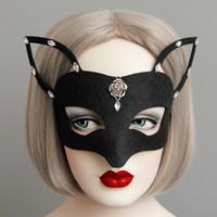 Halloween Black Fox Halbmaske die Uk Masquerade Silber Rosebud Strass Deko Halbmaske Fox Masken für Mädchen