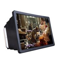 범용 이동 휴대 전화 아이폰 삼성에 대한 F2 확대 화면 앰프 돋보기 3D 유리으로 vedio 접는 휴대용 브라켓 매직 박스