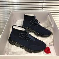 2019 en kaliteli siyah tasarımcı spor ayakkabıları erkek ve kadın genel siyah kırmızı ayakkabı moda çorap spor ayakkabı üst botları