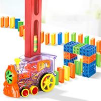 EMT QT6 Kreative Domino-automatische Eingabenzüge, mit Lichtern Sound, Science Educational Toy, Elternkind Interaktives Spielzeug, Weihnachtskind-Geburtstagsgeschenk, 2-1