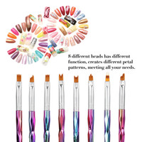 8шт DIY пластиковые Nail Art Brush модный стильный маникюр малярные кисти ручка украшения инструмент для макияжа
