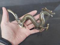 """السلكية 7 """"تمثال برونزي رائع الصينية التنين حديقة الديكور النحاس الحقيقي برونزية الشعبية الصينية النحاس والبرونز الطوطم زودياك الحيوانات التنين"""