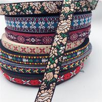 La cinta del cordón del bordado de Boho del ajuste del cordón de bricolaje ropa bolsa de accesorios Tela bordada de Bohemia del Hippie para las embarcaciones de bricolaje