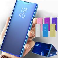 Cuero elegante de la caja del espejo para OPPO Encuentra X2 Pro Lite Reno 5Pro -4pro 3PRO lujo Claro teléfono caso para OPPO F17 F11 Pro A52 A72 A92