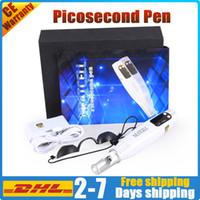 Picosecond Lazer Kalem Dövme Temizleme Pico Lazer Spot Yarımır Çil Remover Kırmızı Mavi Işık YAG Lazer Güzellik Salonu Makinesi DHL