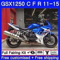 Kropp för Suzuki Bandit GSX1250F GSX1250FA GSX1250 C 11 12 13 14 15 Lagerblå 310HM.33 GSXF1250 GSX1250C 2011 2012 2013 2014 2015 Fairing