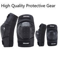 Motorcycle Cycling Knee Elbow Protective Pads Motocross Ski ...