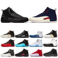 New Gym Red 12 hiberné 12s Basketball Hommes Chaussures Collège Marine Ailes Université Noir CNY Blue Bulls hommes Baskets Taille 7-13