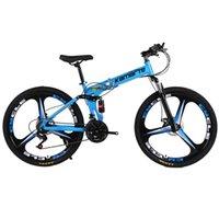الدراجات 30speed الدراجة الجبلية دراجة للطي الكبار mtb 24/26 بوصة سكين عجلة الكربون الصلب إطار مزدوج القرص الفرامل طالب