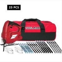 送料無料卸売販売ツールマンエレクトリックジグ5aブレードセット25ピース安全ゴーグルグラスツールバッグ