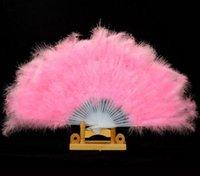 28 spettacolo di danza Props Halloween articoli ventaglio di piume Danza Fan Fan Giù sacco WL282 20pcs /