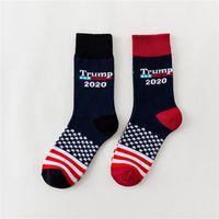 USA Flags Pattern Lovers Calze Calze USA Trump 2020 Sports Calzino Nero Rosso Colore Moda Manichetta Fit Uomo Donna RRA1775