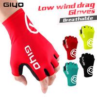 Giyo Cyclisme Gants Finger moitié Gel Sport Racing Gants de vélo Femmes Hommes Gants d'été Racing Wheel Vtt Luva Guantes Ciclismo