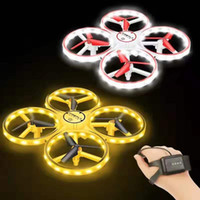 Neueste 3 in 1 RC Induktion Handuhr Geste Control Mini UFO Quadcopter Drohne mit Kamera LED Light Levitation Induktion Flugzeug Kid Toys