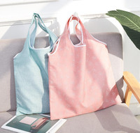 큰 크기 두꺼운 매직 스타일의 나일론 토트 ECO 재사용 가능한 폴리 에스테르 휴대용 어깨 핸드백 접는 파우치 쇼핑 가방 접이식