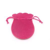 50 pz personalizzato logo sacchetti regalo 7x9 cm velluto gioielli coulisse sacchetto Calabash forma regalo sacchetti di imballaggio per la cerimonia nuziale