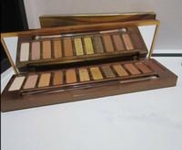 Новейшие макияжные медовые тени для век для век для век 12 цветов Золотые нейтральные палитры Матовая водонепроницаемая длительная тень для век плюс кисть DHL