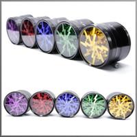 Forma iluminação Erva e especiarias 63 milímetros (2,5 polegadas) 4 Piece Grinder Com Limpar Top Janela Mutil colorido liga de alumínio Factory Direct