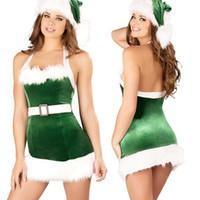 Trasporto libero nuovi costumi sexy europei e americani della biancheria cosplay costumi sexy di Natale della regina della regina diavolo vestiti verdi di Natale