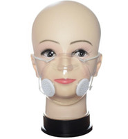 Transparent Face Mask With Valve PP Clear Mask With Double B...
