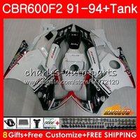 Кузов + бак для HONDA CBR 600F2 CBR600FS CBR 600 FS F2 91 92 93 94 40HC.17 600cc CBR600 F2 CBR600F2 1991 1992 1993 1994 Обтекатель Глянцевый белый