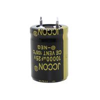 JCCON سميكة قدم مكثف كهربائيا حجم 25v10000uf 22x30 22x40 السلطة العاكس