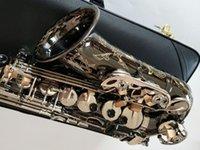 New Alto Saxophone копия Германия JK SX90R Keilwerth черный никель серебряный сплав Alto Sax латунный профессиональный музыкальный инструмент с жестким корпусом