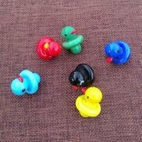 2020 nuovi protezioni sveglie Carb Mini colorati accessori di fumo UFO Anatra Cappelli carb per quarzo Banger secco Herb Cera Dab Strumenti DCC01
