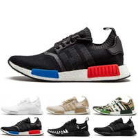Qualitys NMD R1 Oreo Runner Japão NBHD Primeknit OG triplo Preto Branco Camo Running Shoes Homens Mulheres NMDS Runners XR1 Sports Trainers 36-45