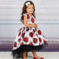 Fashion New Princess Dress Girls Print Floor-Length Dress Mopping Dress European And American Style High-End Party