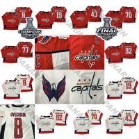 18-19 Washington Capitales Jersey 8 Alex Ovechkin 74 John Carlson 77 TJ Oshie 70 Braden Holtby 92 Evgeny Kuznetsov Hockey Jerseys