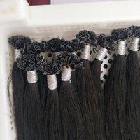 1g / iplikçik 200g I / U / Düz Tip Saç Uzatma prebonded Füzyon Düz Saç Keratin Çubuk Hint İnsan Saç, DHL