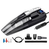 AX-6618 4 in 1 automobile aspirapolvere tenuto in mano con Digital pneumatici gonfiatore della pompa Manometro LED Aspirapolvere Per la casa Auto Car