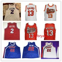 Üniversite Basketbol Ruhu St Louis Jersey 13 Moses 2 Malone Jersey Özel Yapılı Dikişli Retro Jersey Nakış Boyutu S-5XL