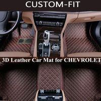Atacado Custom Car Floor Mats para Chevrolet Equinox 2013 TRAVERSE MALIBU 2014 Chevy Cruze SPARK CAMARO RS SILVERADO COLORADO AVEO Carpet
