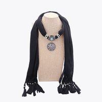 Moda etnica vintage strass collana pendente ciondolo fiore sciarpa Nuove donne bohemien sciarpe regali