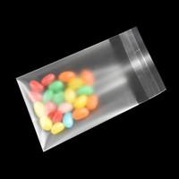200pcs / lot Matte Effacer Sacs en plastique pour les bonbons Snack emballage Cookies haricots Nuts auto-adhésif Joint de stockage en plastique Sacs d'emballage
