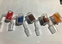 Cuarzo Banger Nail XXL OD28mm Cazo Con colorido termocrómicas Glass Sands Dentro de cambiar de color cuando Calefacción 10mm14mm18mm Claro conjunta