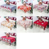 Paño de tabla de Navidad decoraciones del Año Nuevo cubierta de poliéster de dibujos animados de Navidad impresas mantel de mesa de los hogares 150 * 180cm DHL XD22659